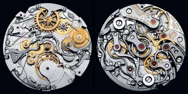 And not just any watch—these are the internal mechanisms of a Patek Phillipe watch. Phillipe is one of the greatest watch makers in the world.