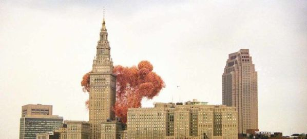 Cleveland Decided To Make The News By Being The City That Released The Most Balloons At Once 1 5 Million Balloons Were Inflated To Be Released At Once