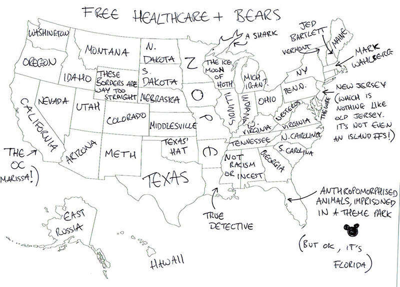 People In London Were Asked To Name US States On A Map The - Map of us states no names