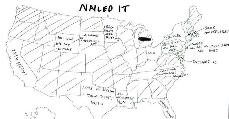 People In London Were Asked To Name US States On A Map The - Name the us states on a map