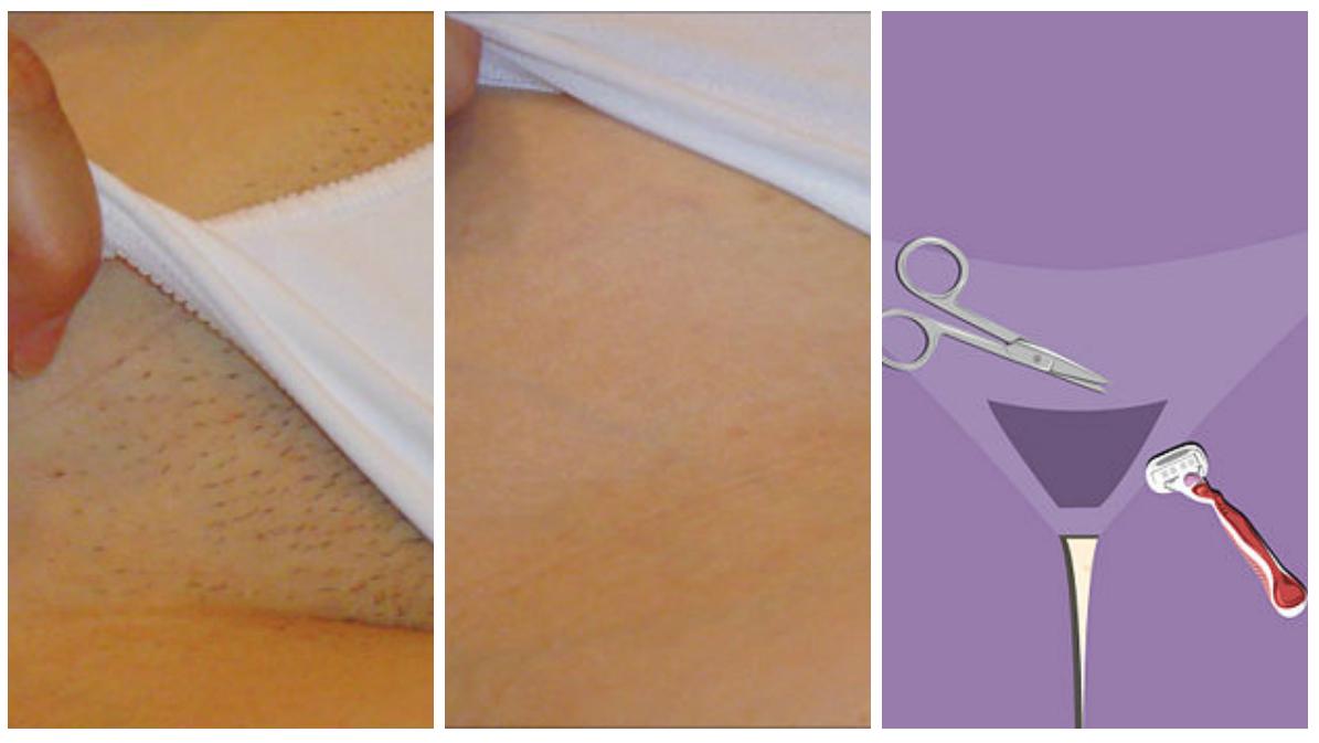 Как убрать волосы в интимных местах в домашних условиях фото