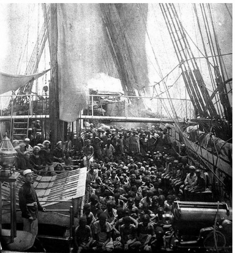 Disturbing picture showing horror of slave trade in the past