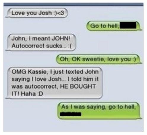 awkward cheating texts