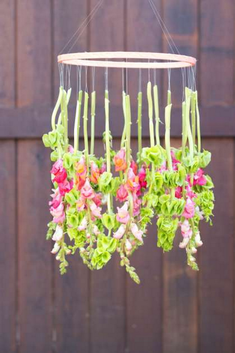 Decorate with hanging flowers