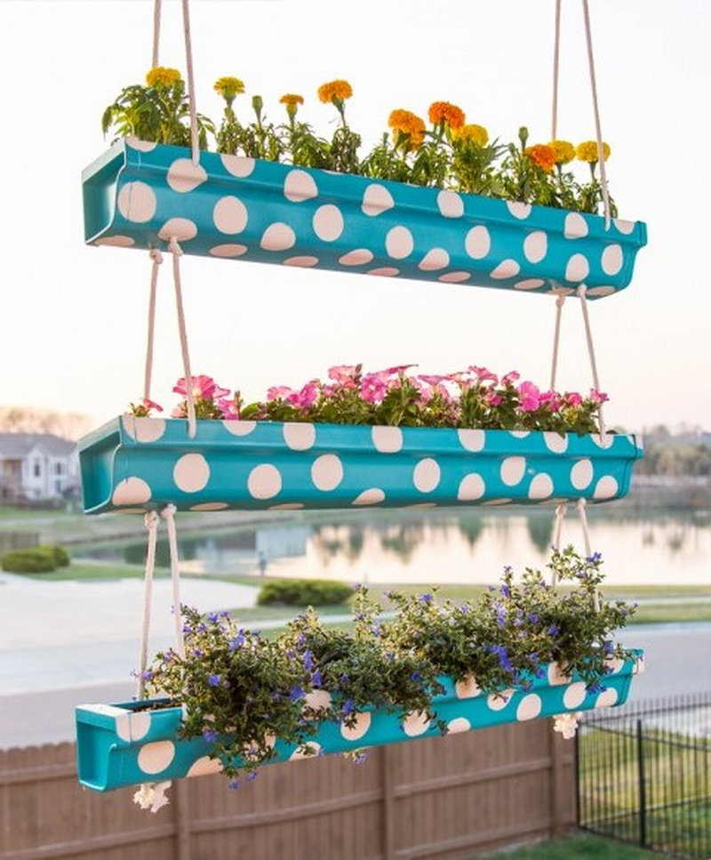 Rain Gutters can hold flower plants too
