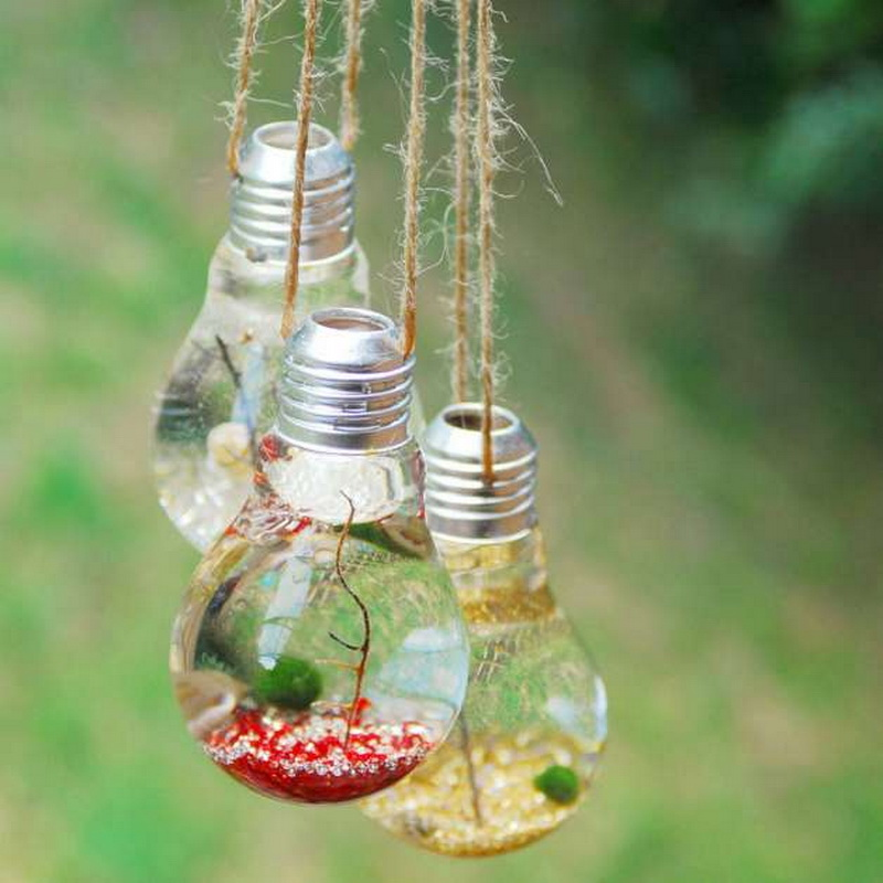 Conked off light bulbs decorations